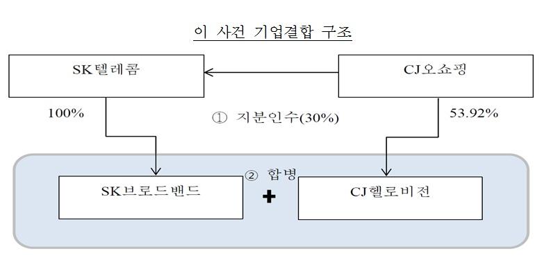 SK텔레콤_CJ헬로비전 기업결합 구조