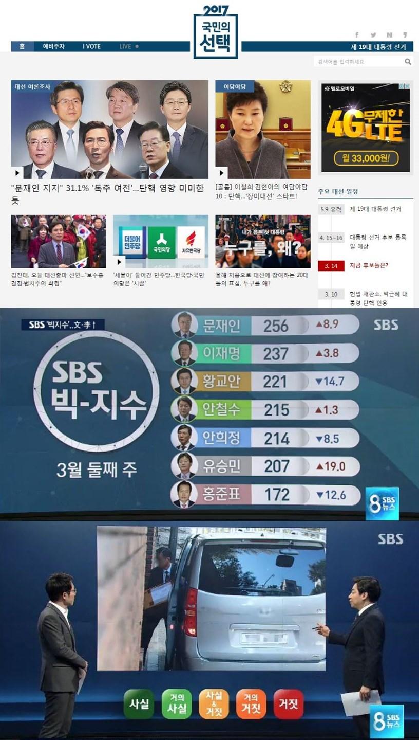 SBS_19대 대선 온라인 특별 페이지